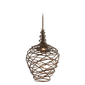 Sanctuary Cottage Bronze 14-Inch LED One Light Pendant
