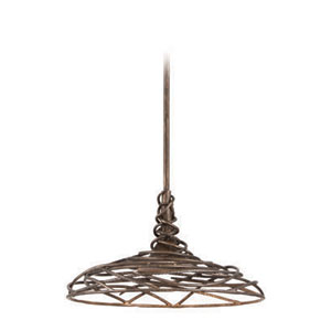 Sanctuary Cottage Bronze 16-Inch LED One Light Pendant