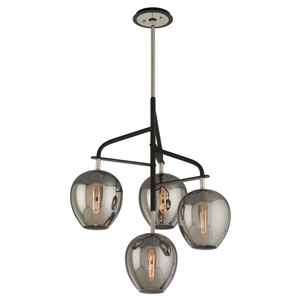 Odyssey Carbide Black Four-Light Twenty-Four-Inch Chandelier