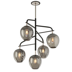 Odyssey Carbide Black Five-Light Chandelier