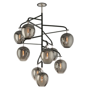 Odyssey Carbide Black Nine-Light Chandelier