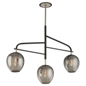 Odyssey Carbide Black Three-Light Chandelier