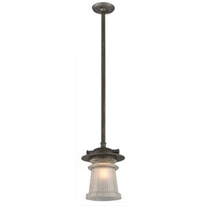 Pearl Street Charred Zinc One-Light Ten-Inch Outdoor Pendant