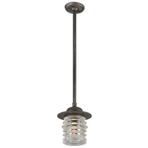 Watson Charred Zinc One-Light Ten-Inch Outdoor Pendant