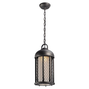 Signal Hill Aged Silver One-Light Eight-Inch Outdoor Mini Pendant