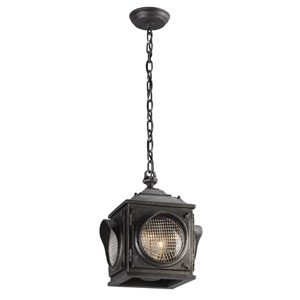 Main Street Aged Pewter Two-Light Outdoor Pendant