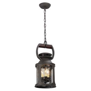 Old Trail Centennial Rust Three-Light Eight-Inch Outdoor Mini Pendant