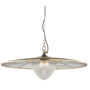 Fly Boy Antique Silver One-Light Fifteen-Inch Pendant
