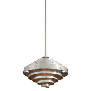 Mitchel Field Vintage Aluminum One-Light Eighteen-Inch LED Pendant