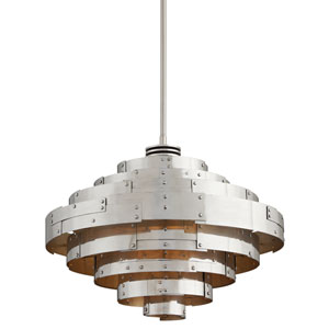 Mitchel Field Vintage Aluminum One-Light Twenty-Six-Inch LED Pendant