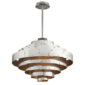 Mitchel Field Vintage Aluminum One-Light Thirty-Two-Inch LED Pendant