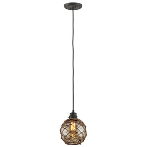 Outer Banks Shipyard Bronze One-Light Eight-Inch Mini Pendant