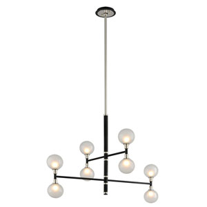 Andromeda Carbide Black Eight-Light Chandelier