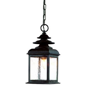 Adams Colonial Iron One-Light Outdoor Pendant