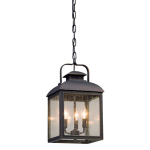 Chamberlain Vintage Bronze Three-Light Outdoor Pendant