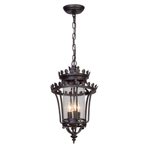 Greystone Forged Iron Three-Light Outdoor Pendant