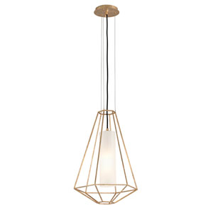 Silhouette Gold Leaf 16-Inch One-Light Pendant