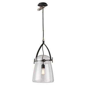 Silverlake French Iron 12-Inch One-Light Pendant