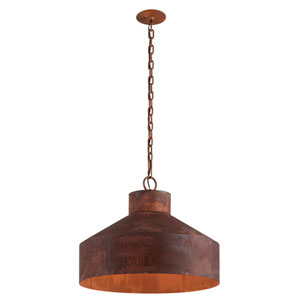 Rise and Shine Rust Patina Four-Light Pendant