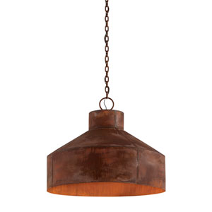 Rise and Shine Rust Patina Five-Light Pendant