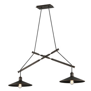 McCoy Vintage Bronze Two-Light Pendant