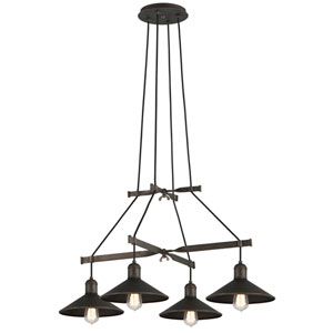 McCoy Vintage Bronze Four-Light Chandelier