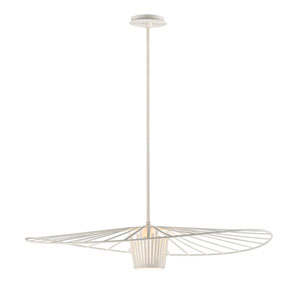Tides Textured White 36-Inch One-Light Pendant