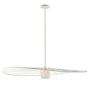Tides Textured White 48-Inch One-Light Pendant