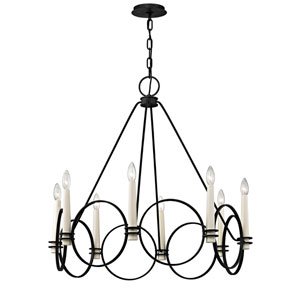 Juliette Country Iron Eight-Light Chandelier
