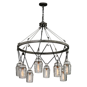 Citizen Graphite and Polished Nickel 34-Inch Chandelier