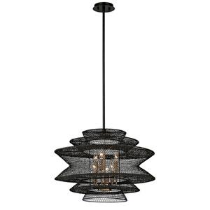 Kokoro Bronze Six-Light Pendant