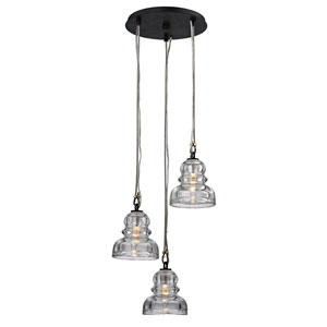 Menlo Park Deep Bronze Three-Light Pendant