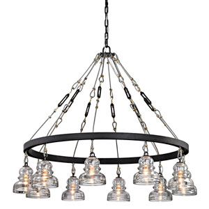 Menlo Park Deep Bronze 10-Light Chandelier