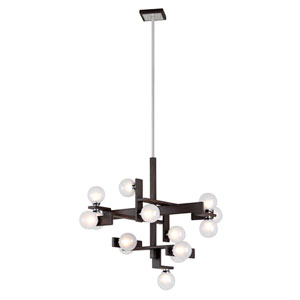 Network Forest Bronze and Polished Chrome 15-Light Pendant
