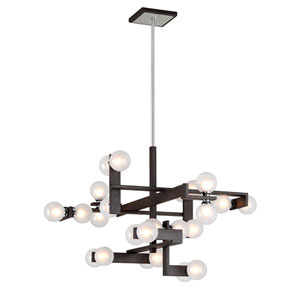 Network Forest Bronze and Polished Chrome 24-Light Pendant