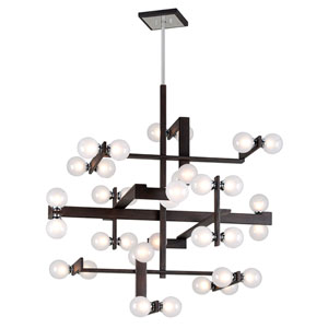 Network Forest Bronze and Polished Chrome 36-Light Pendant