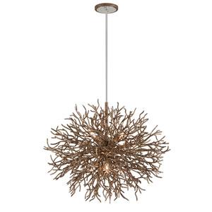 Sierra Distressed Bronze Six-Light Pendant
