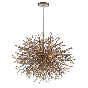 Sierra Distressed Bronze Nine-Light Pendant