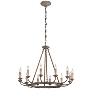 Cyrano Earthen Bronze 12-Light Chandelier