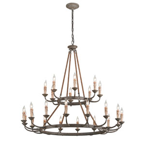 Cyrano Earthen Bronze 24-Light Chandelier