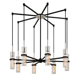 Xavier Vintage Iron Eight-Light Pendant with Dark Bronze