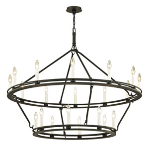 Sutton Textured Black 44-Inch Chandelier