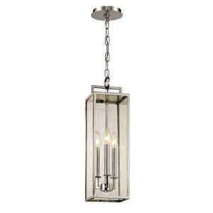 Beckham Polishes Stainless Three-Light Outdoor Pendant with Dark Bronze