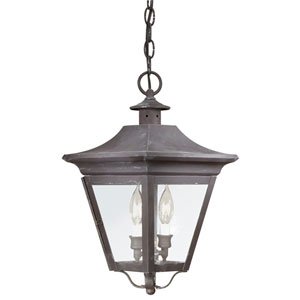 Oxford Charred Iron Two-Light Outdoor Hanging Lantern