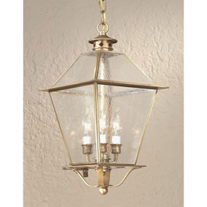 Charred Iron Montgomery Three-Light Hanging Glass Top Lantern
