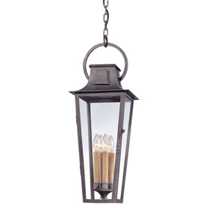 Aged Pewter French Quarter Large One-Light Fluorescent Hanging Post Mount Lantern