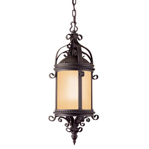 Pamplona Old Bronze One-Light Fluorescent Outdoor Hanging Lantern