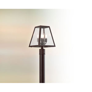 River Valley Rust Amherst Four-Light Post Mount with Coastal Finish
