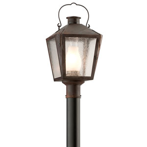 Nantucket Natural Rust One-Light Medium Post Lantern