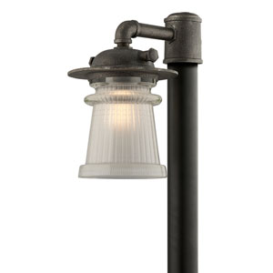 Pearl Street Charred Zinc One-Light Ten-Inch Outdoor Post Mount
